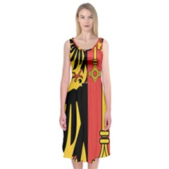 Coat of Arms of Geneva Canton  Midi Sleeveless Dress