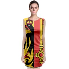 Coat Of Arms Of Geneva Canton  Classic Sleeveless Midi Dress