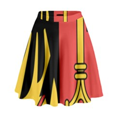 Coat Of Arms Of Geneva Canton  High Waist Skirt