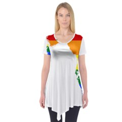 LGBT Flag Map of Florida Short Sleeve Tunic