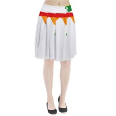 LGBT Flag Map of Florida Pleated Skirt