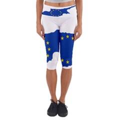 European Flag Map of Cyprus  Capri Yoga Leggings