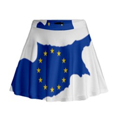 European Flag Map Of Cyprus  Mini Flare Skirt