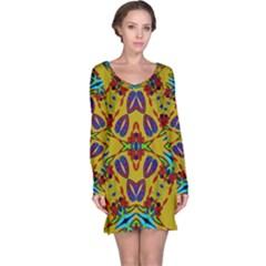 Uk,  (2),u Long Sleeve Nightdress