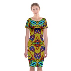 Uk,  (2),u Classic Short Sleeve Midi Dress