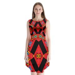 J,j, Sleeveless Chiffon Dress