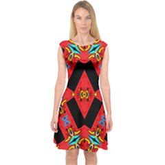 J,j, Capsleeve Midi Dress