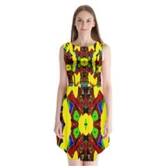 Uk,  (3),ujjollymky Sleeveless Chiffon Dress