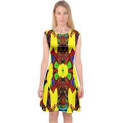 Uk,  (3),ujjollymky Capsleeve Midi Dress