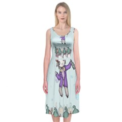 Fizzy Lifting Midi Sleeveless Dress