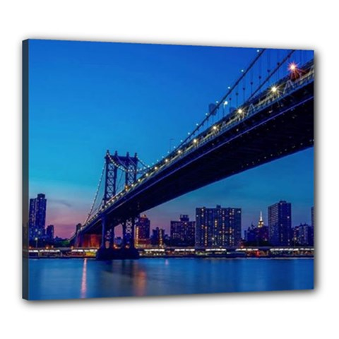 Brooklyn Bridge Canvas 24  x 20  (Framed)
