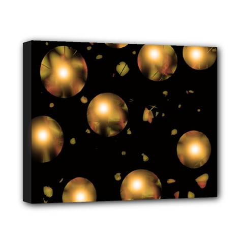 Golden balls Canvas 10  x 8