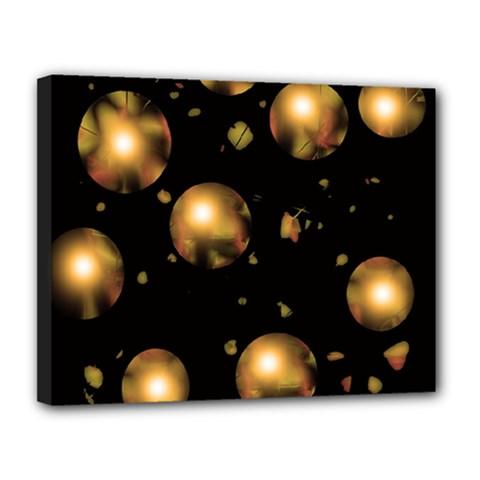 Golden balls Canvas 14  x 11