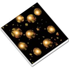 Golden balls Small Memo Pads