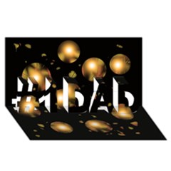 Golden balls #1 DAD 3D Greeting Card (8x4)