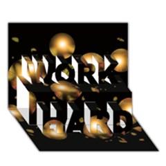Golden balls WORK HARD 3D Greeting Card (7x5)