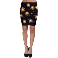 Golden balls Bodycon Skirt