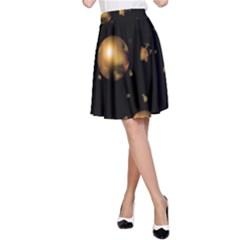 Golden balls A-Line Skirt