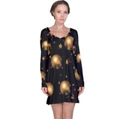 Golden balls Long Sleeve Nightdress