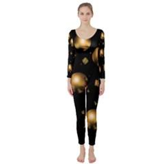 Golden balls Long Sleeve Catsuit