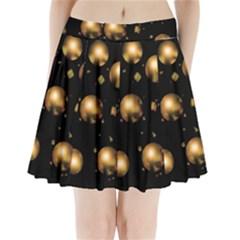 Golden Balls Pleated Mini Skirt