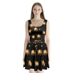 Golden Balls Split Back Mini Dress