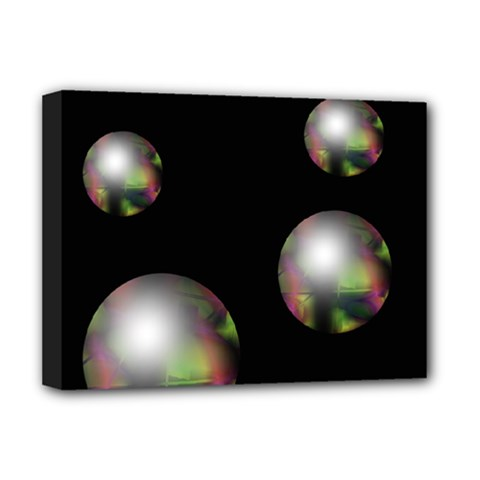 Silver pearls Deluxe Canvas 16  x 12