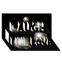 Silver pearls Laugh Live Love 3D Greeting Card (8x4)