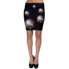 Silver pearls Bodycon Skirt