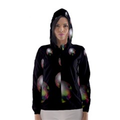 Silver pearls Hooded Wind Breaker (Women)