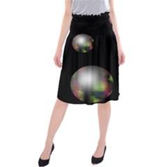 Silver pearls Midi Beach Skirt