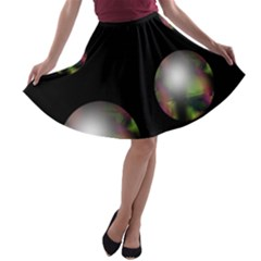Silver pearls A-line Skater Skirt