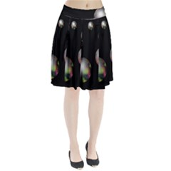 Silver Pearls Pleated Skirt