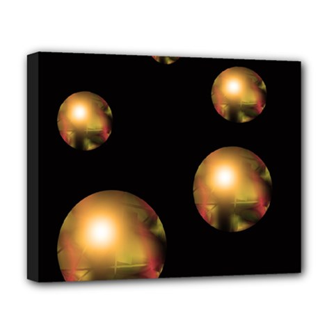 Golden pearls Deluxe Canvas 20  x 16