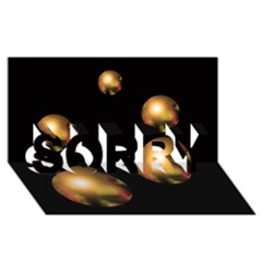 Golden pearls SORRY 3D Greeting Card (8x4)