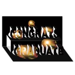 Golden pearls Congrats Graduate 3D Greeting Card (8x4)