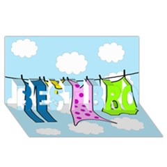 Laundry BEST BRO 3D Greeting Card (8x4)