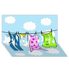 Laundry ENGAGED 3D Greeting Card (8x4)