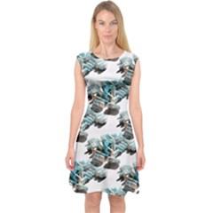 A.D.D. It Up Capsleeve Midi Dress