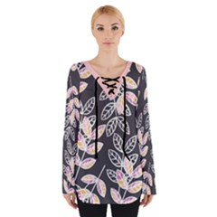 Winter Foliage Women s Tie Up Tee