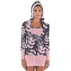 Winter Foliage Women s Long Sleeve Hooded T-shirt