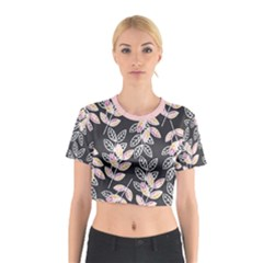 Winter Foliage Cotton Crop Top