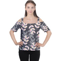 Winter Foliage Women s Cutout Shoulder Tee