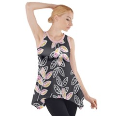 Winter Foliage Side Drop Tank Tunic