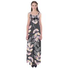 Winter Foliage Empire Waist Maxi Dress