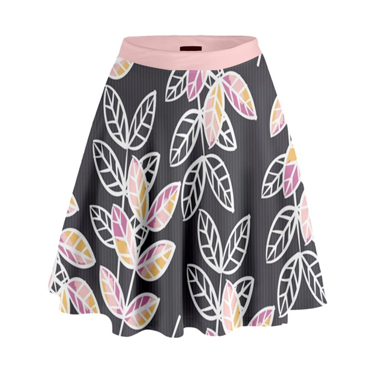 Winter Foliage High Waist Skirt