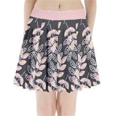 Winter Foliage Pleated Mini Skirt