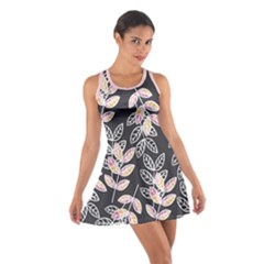Winter Foliage Cotton Racerback Dress