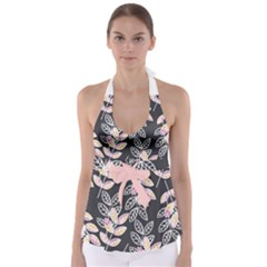 Rose Babydoll Tankini Top