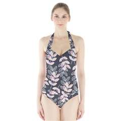Winter Foliage Halter Swimsuit